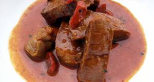 LG STEAK WITH WOLFBERRY SAUCE