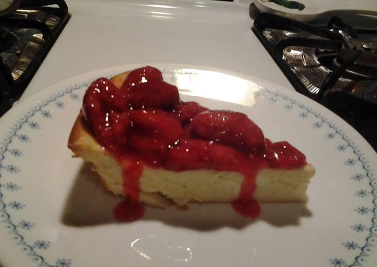 Crustless Cheesecake Pie