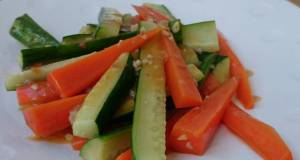 Stir Fry Carrot and Cucumber In Oxtail Soup
