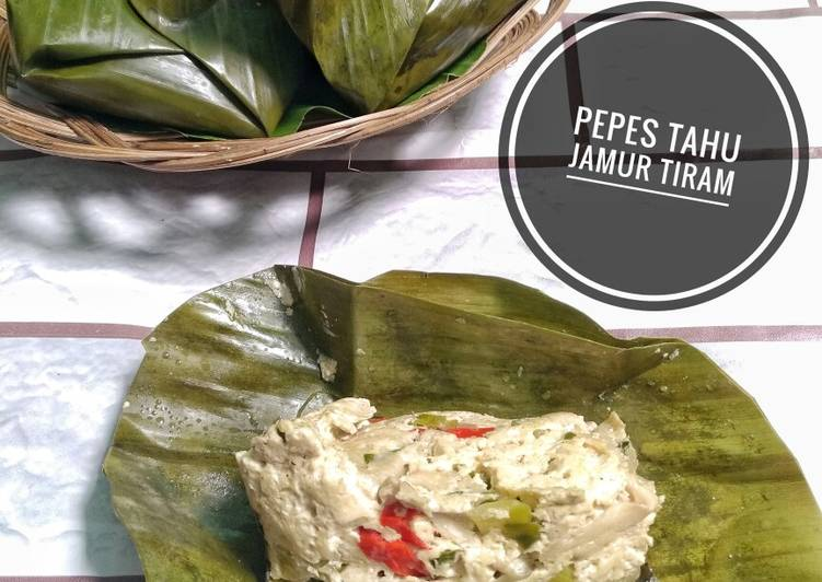 Pepes Tahu Jamur Tiram