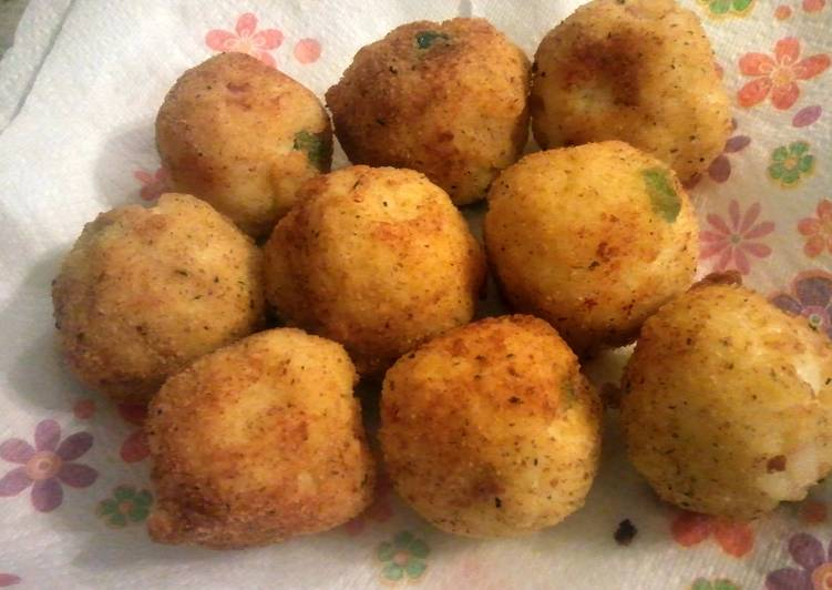 Cheesy Arancini Rice Balls