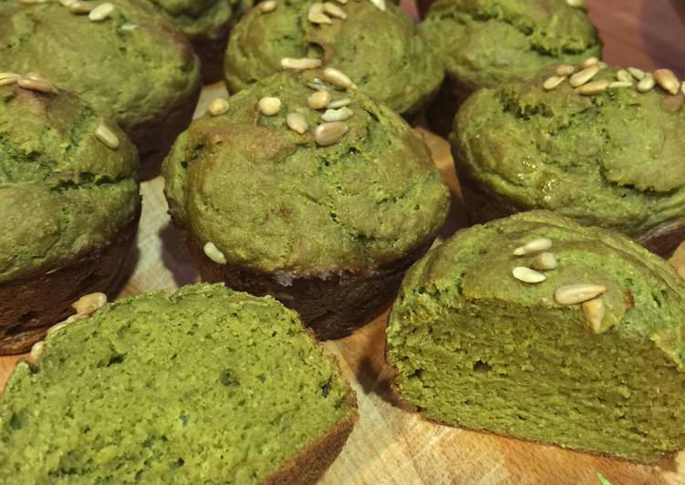 Healthy Matcha Muffins