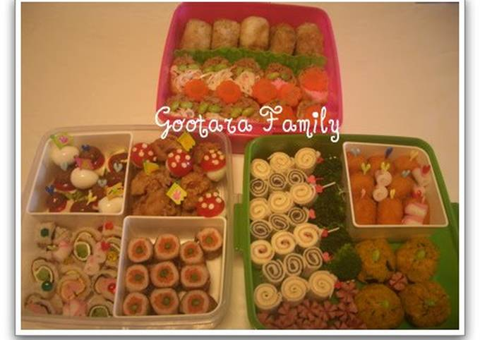 Simple Way to Prepare Delicious Cherry Blossom Viewing Lunch Box (Great For Kids)