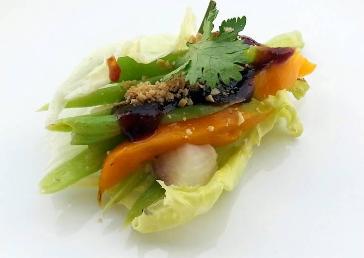 Lettuce Wrap Vegan Salad Diet Lunch