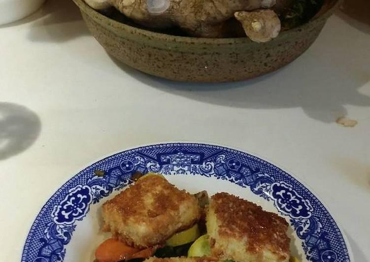 Pan Fried Panko Tofu