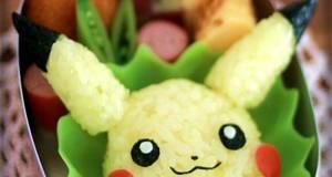 Pokemon Character Bento - Pikachu Onigiri