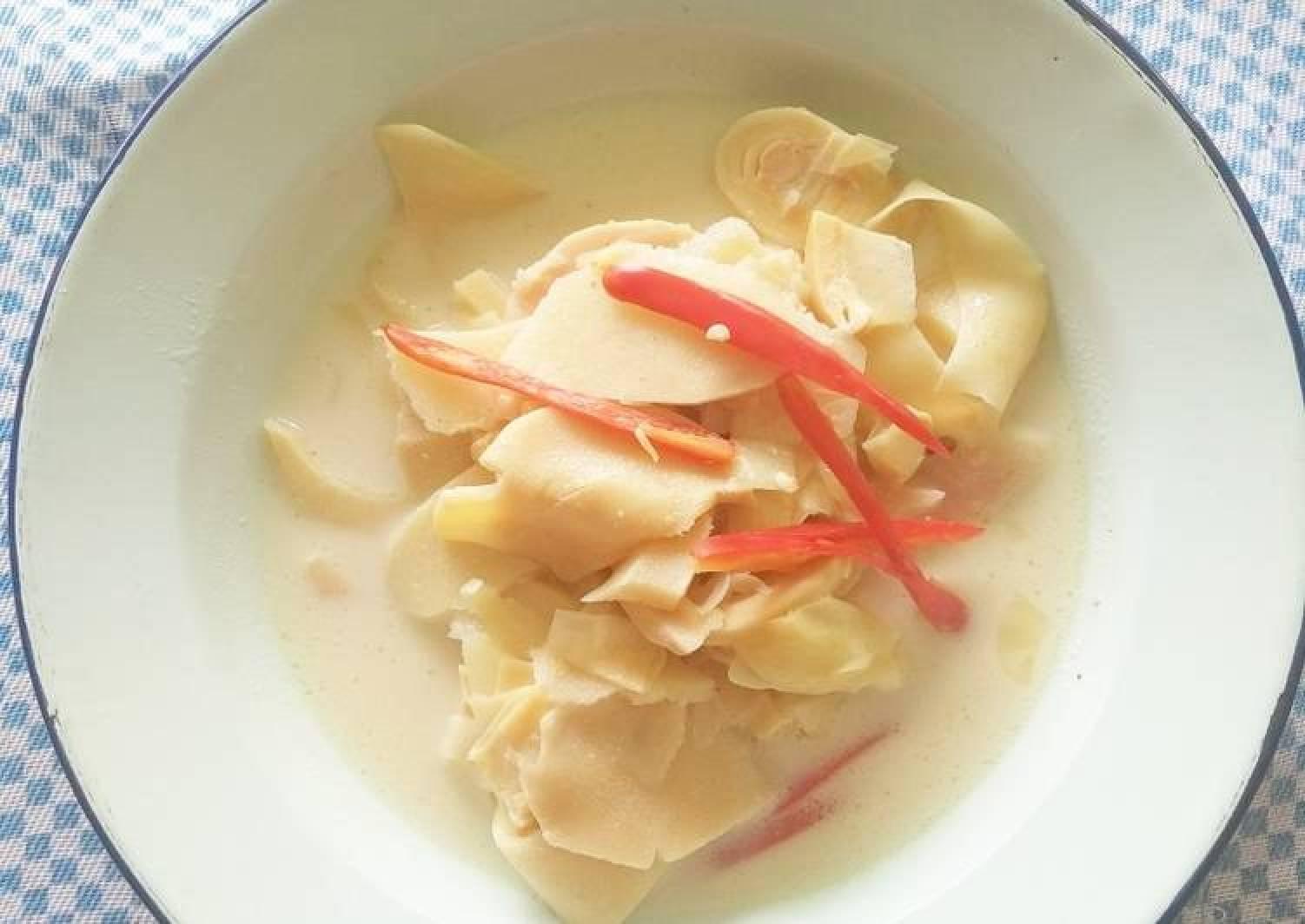 Rebung Kuah Curry Putih (Bamboo Shoot with White Curry)