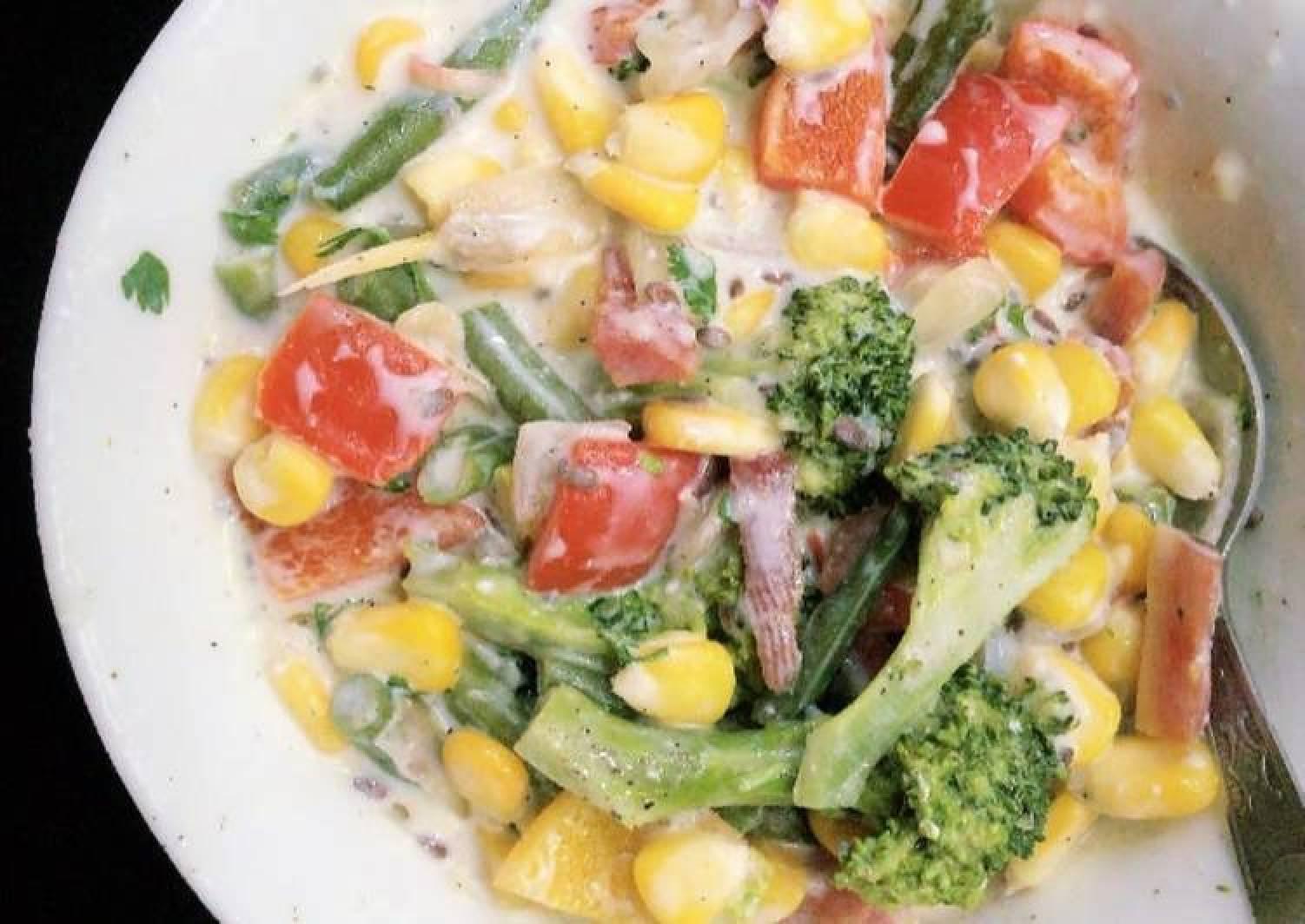 Curd Cheese veggies salad