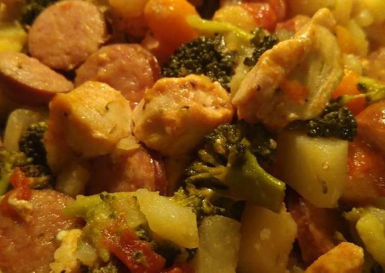 Chicken & Veggies One Pan