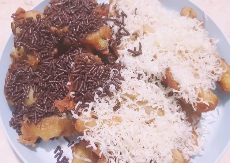 Pisang Goreng Crispy Tabur Meses Keju