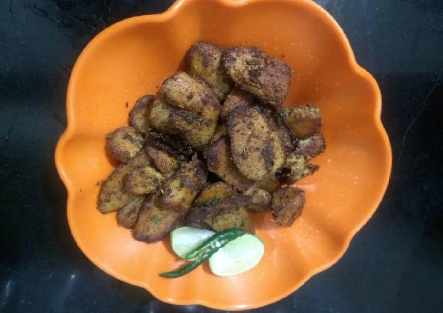 Chatpati crispy taro root