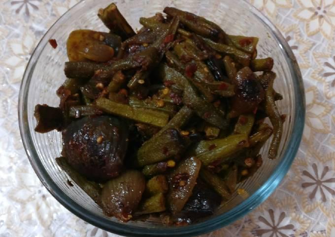 Recipe of Jamie Oliver Saunf Wali Bhindi