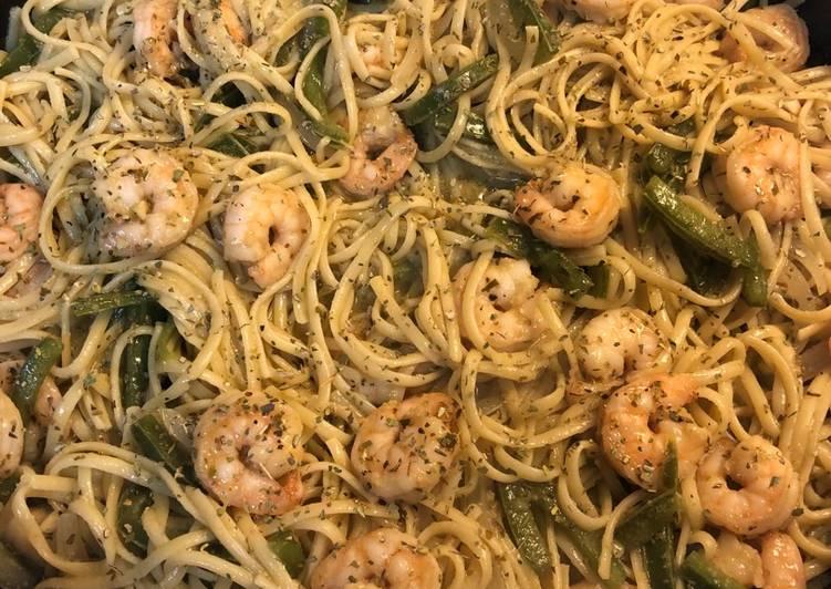 Garlic-Lime Pepper Shrimp Pasta