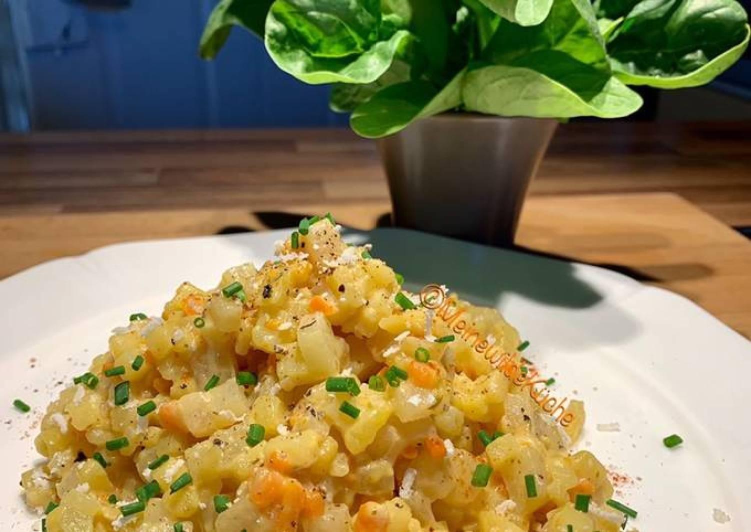 Kohlrabi-Kartoffel-Karotte-Risotto