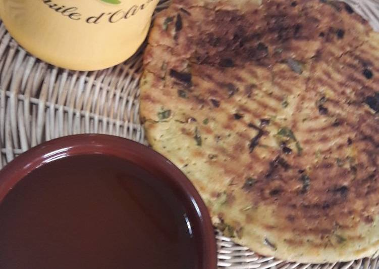 Galette kabyle aux herbes
