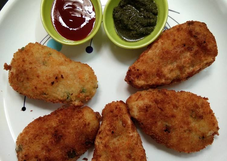 Recipe of Super Quick Homemade Leftover rice cutlet