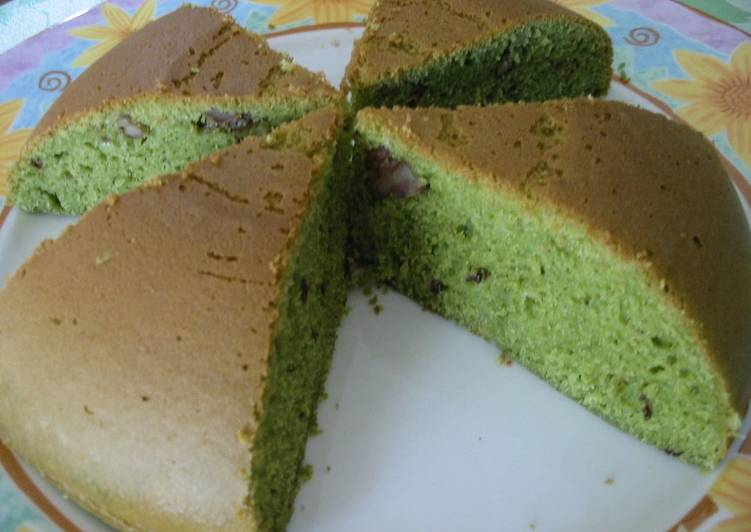 Easy With A Rice Cooker! Matcha Tea Cake With Walnuts