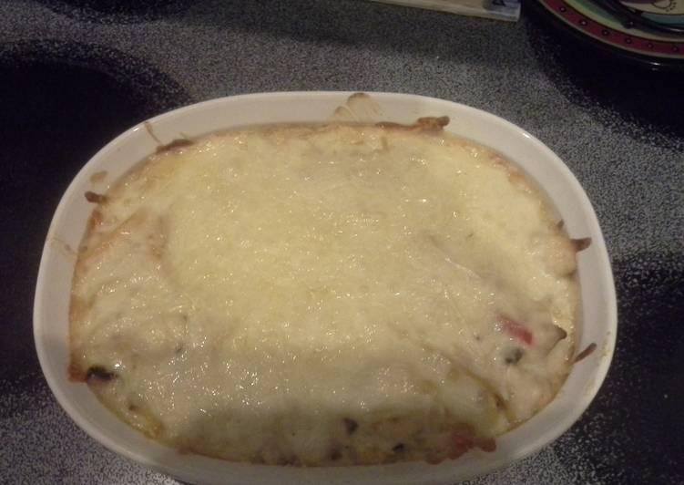 Recipe of Ultimate Alfredo Chicken Cheese Casserole