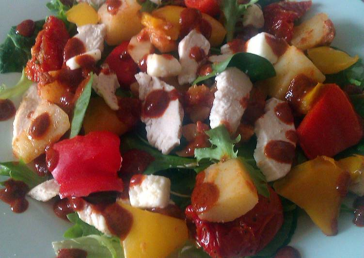 Vickys Chargrilled Chicken Potato  Chorizo Salad with Paprika Dressing