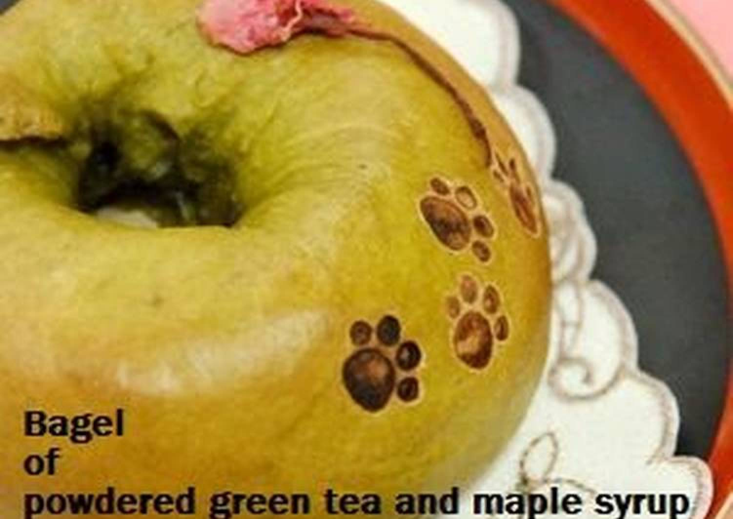 Matcha Green Tea and Maple Syrup Bagels