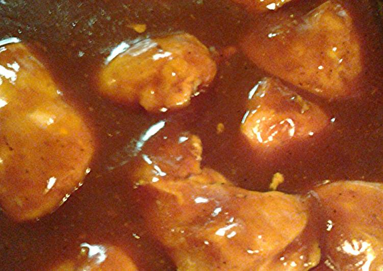 Barbecue chicken Pepsi sweet baby rays