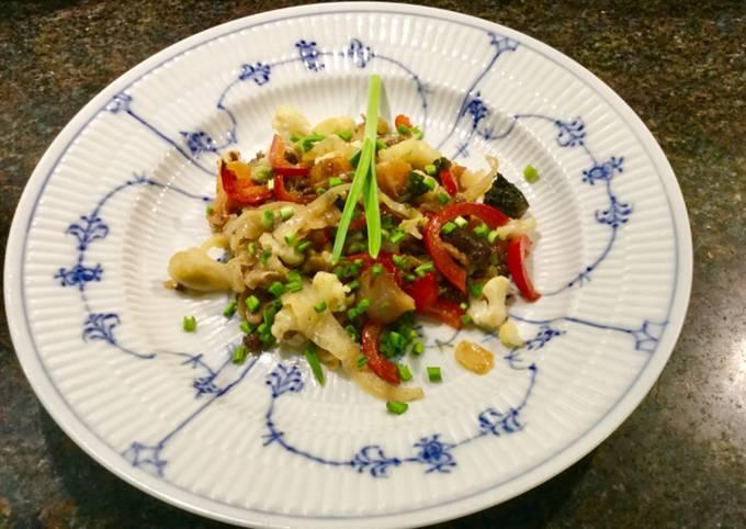 Opskrift På En Prisvindende Grøntsager i wok med fishsauce og japansk soya På