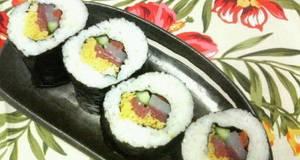 Seafood Ehomaki Lucky Fat Sushi Rolls