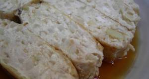 Simmered Aburaage Filled with Ground Chicken and Tofu