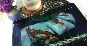 Thai Garden Rolls / khuey Taew Lui Suan / wide Rice noodles wraps