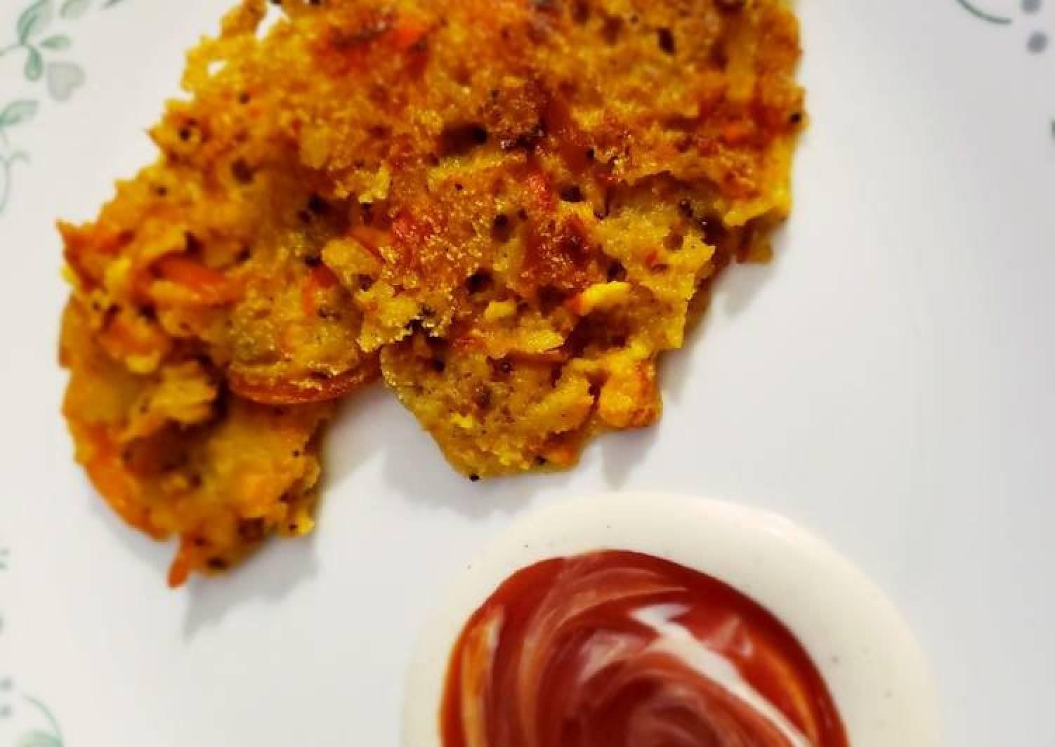 Cheese chilli rava pancake