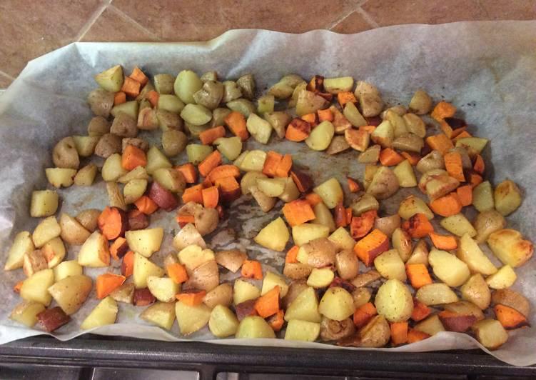 Roasted Baby Golden/Sweet Potatoes