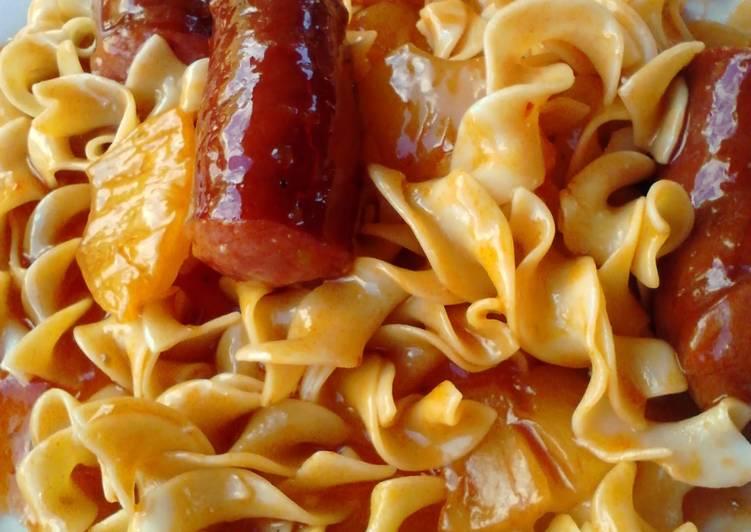 Sweet n Sour Sausage ala Noodles