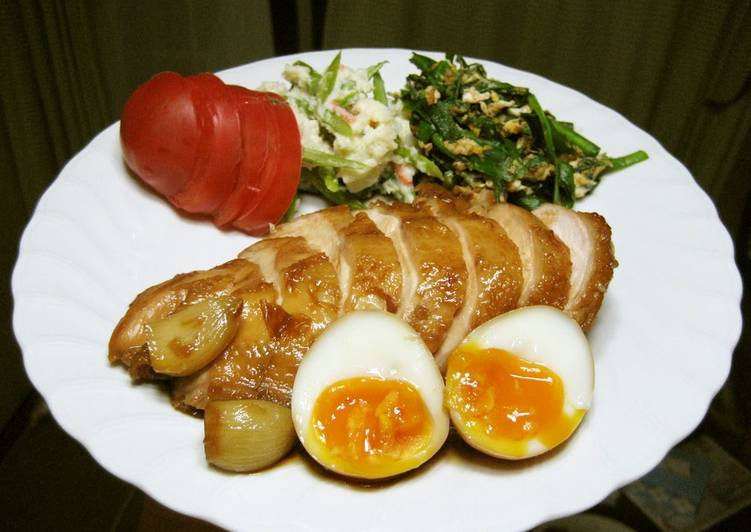 Easy Chicken Char Siu With Soft Boiled Egg