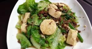 Tofu And Lettuce With Mushroom