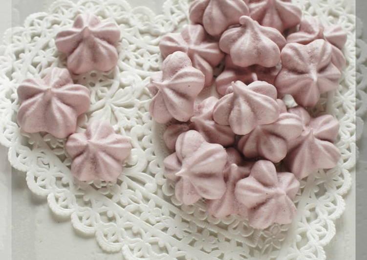 Aroma of Spring Sakura Meringue Cookies