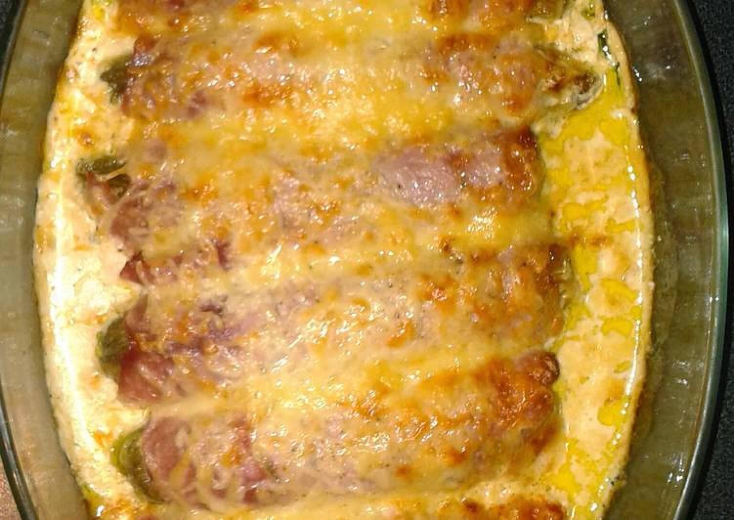 O'gratin chicory and ham