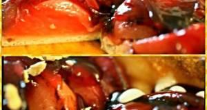 Sigs Ginger and Wine glazed Plum Pizza with Honey/Vanilla Masc