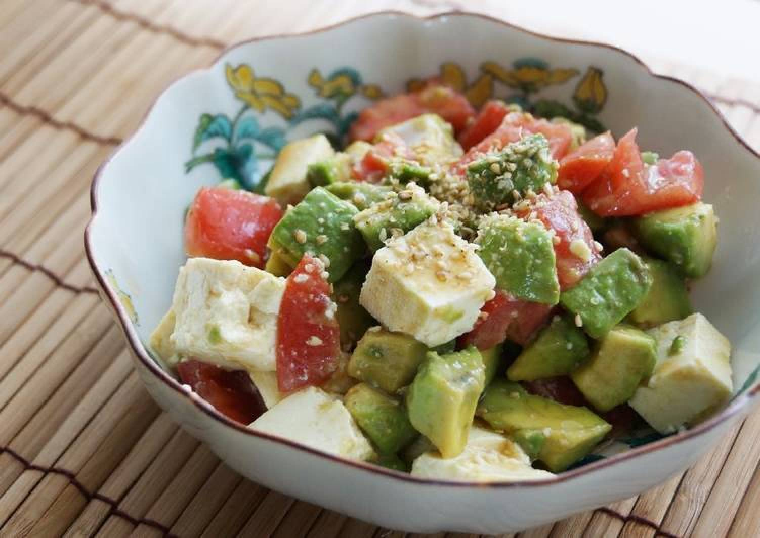 Tofu, Avocado and Tomato Salad