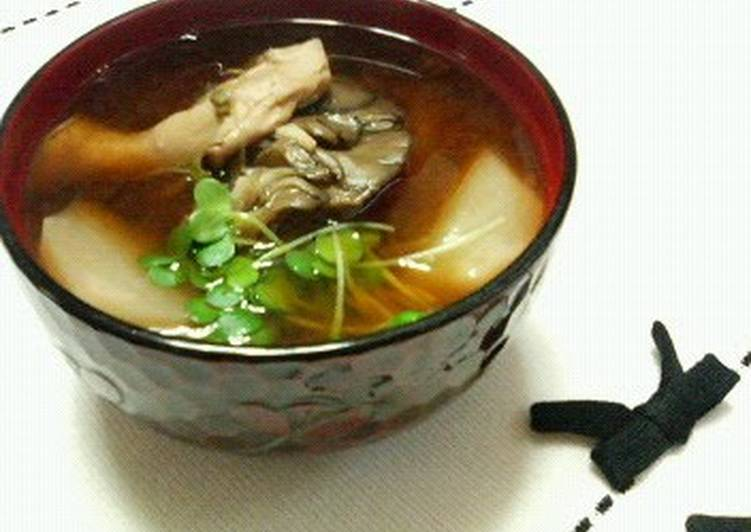 Recipe of Perfect Turnip and Maitake Miso Soup