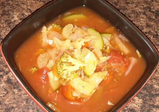 Loaded veggie soup