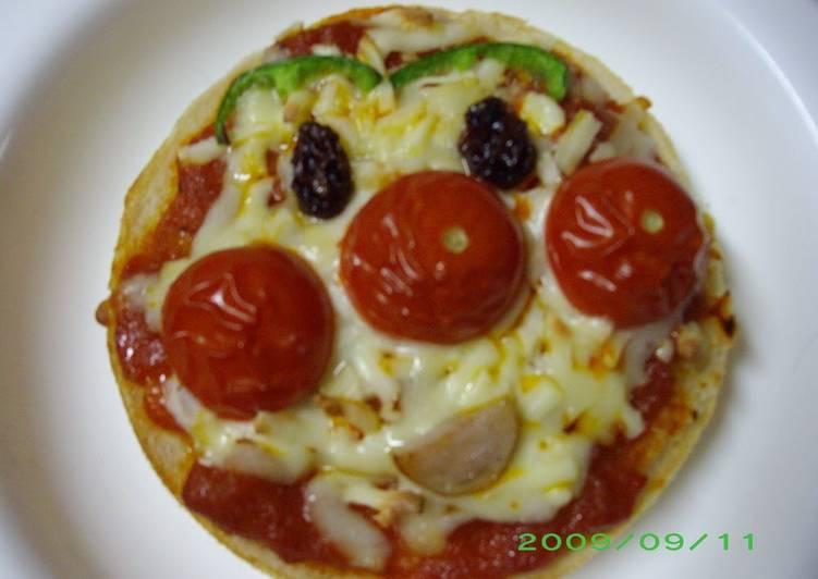 English Muffin Anpanman Pizzas