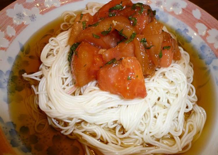 Tomato Sauce Chilled Somen Noodles
