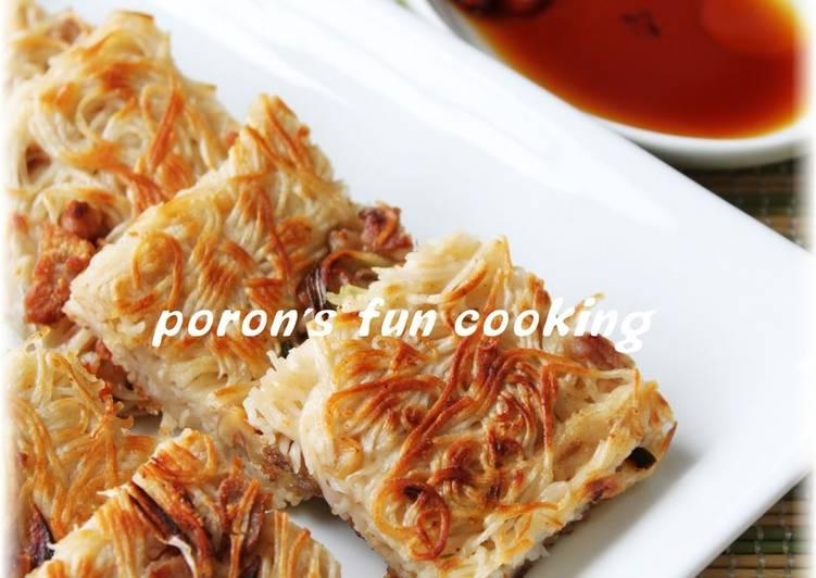 Somen Noodles Chijimi with Pork and  Walnut