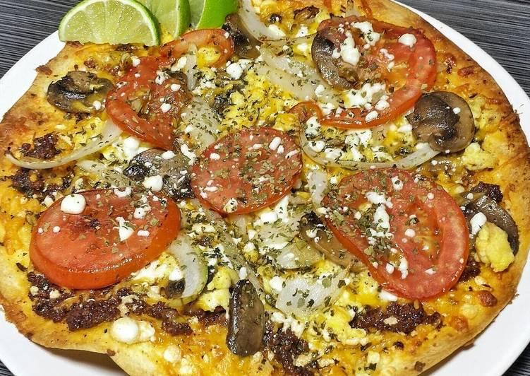 Breakfast Chorizo and Egg Pizza