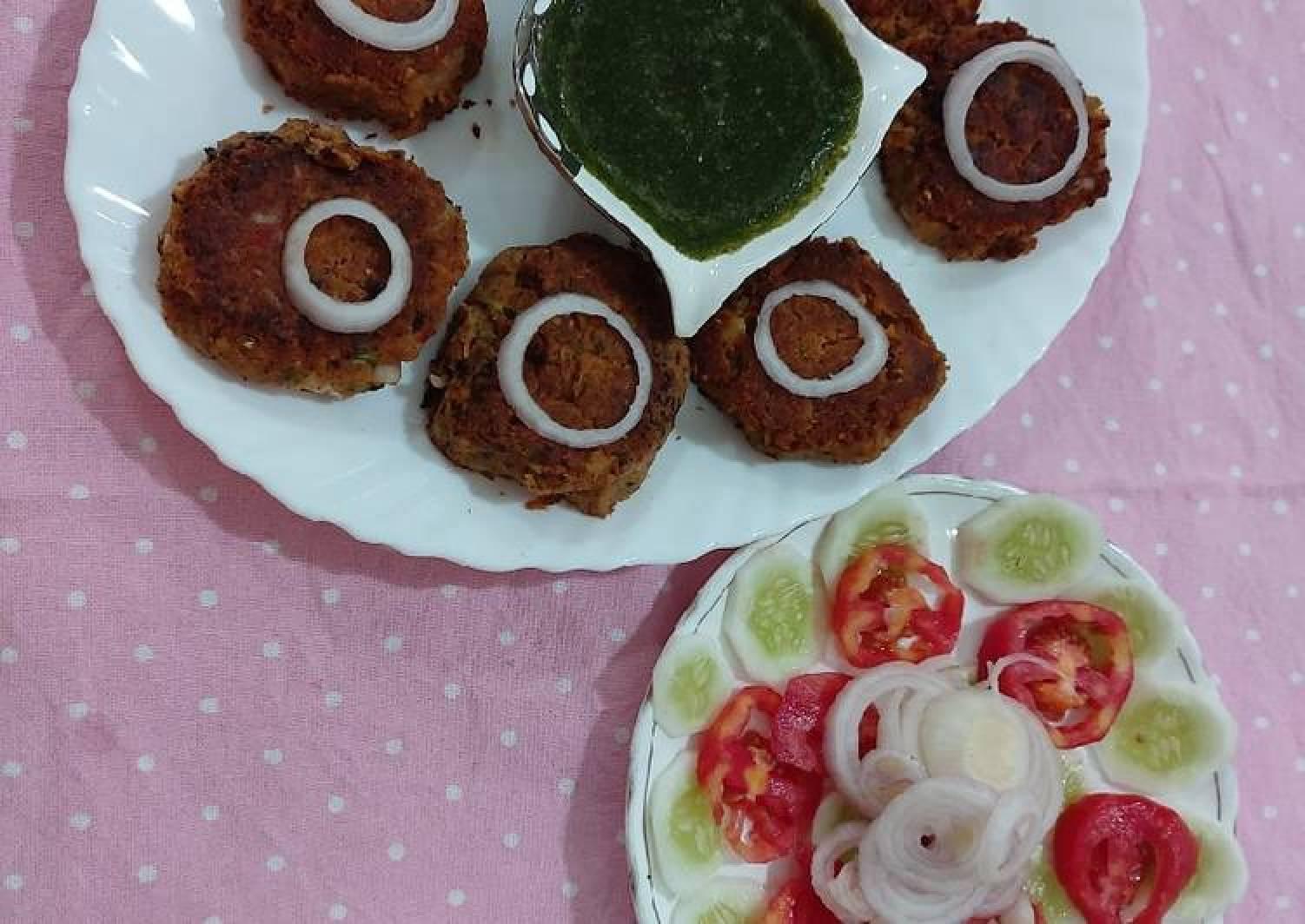 Soya beans shami kababs