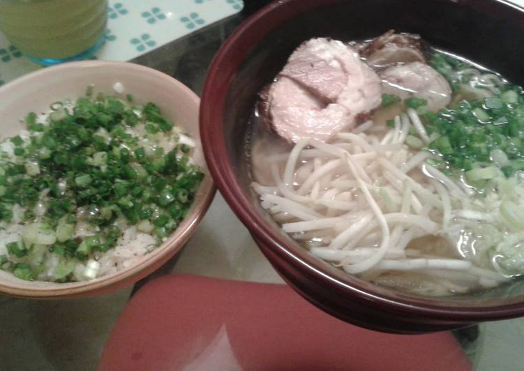 Negi-Meshi Rice with Leeks from a Ramen Noodle Bar