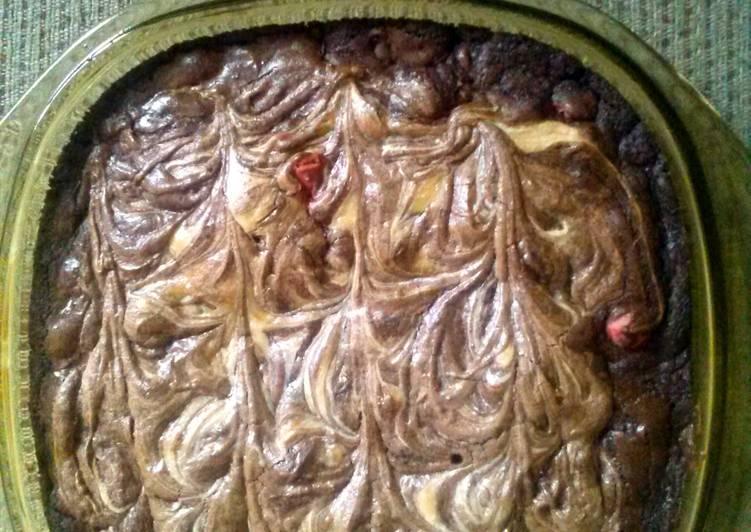 momma's Super easy white chocolate cheesecake brownies
