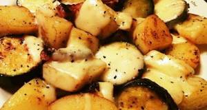 German Potatoes with Melting Cheese
