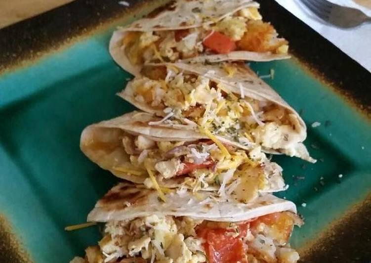 Poisonhoney's Loaded Breakfast Quesadilla