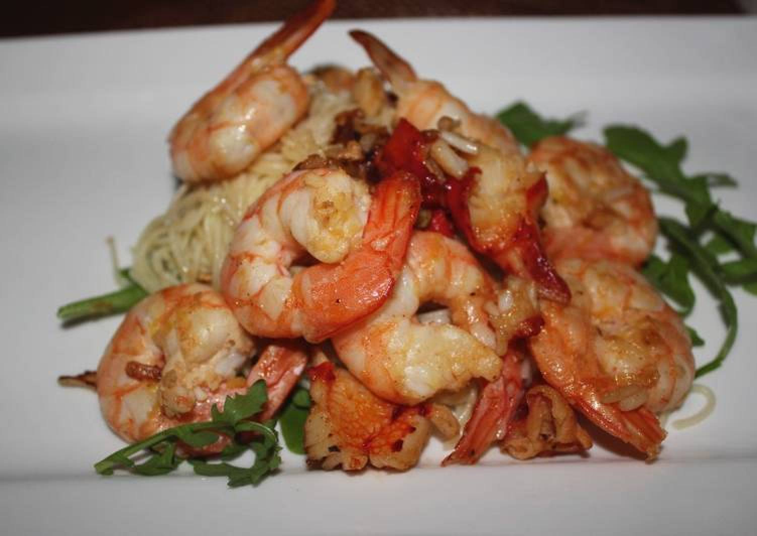 Angle hair Pasta with Chilli Prawn
